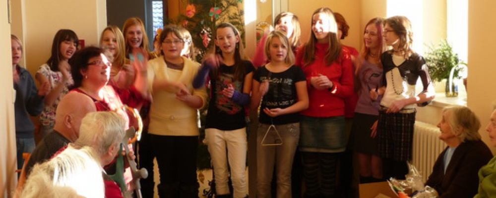 Vánoční besídka dětí z místní ZŠ