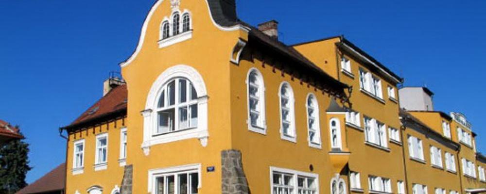 Geriatrické centrum Počátky - Historická budova lůžek následné péče z roku 1884.