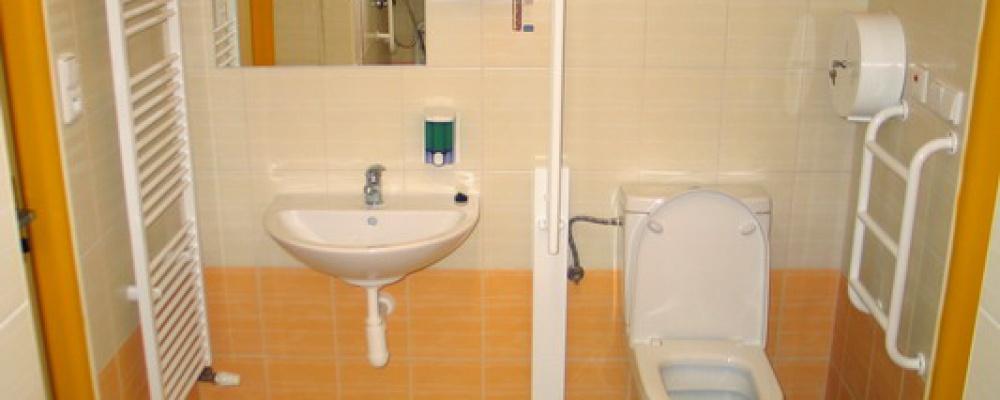 Pavilon sociálních lůžek - Pokoje jsou vybaveny koupenou s WC.